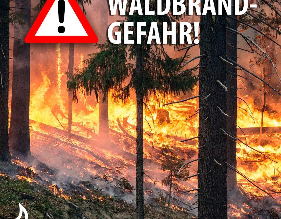 Waldbrandübung